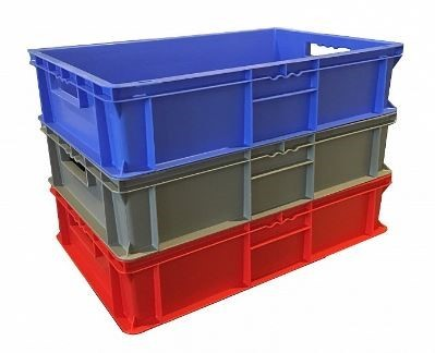 30 Litre Extra Strong Plastic Stacking Euro Container / Stackable Storage Box