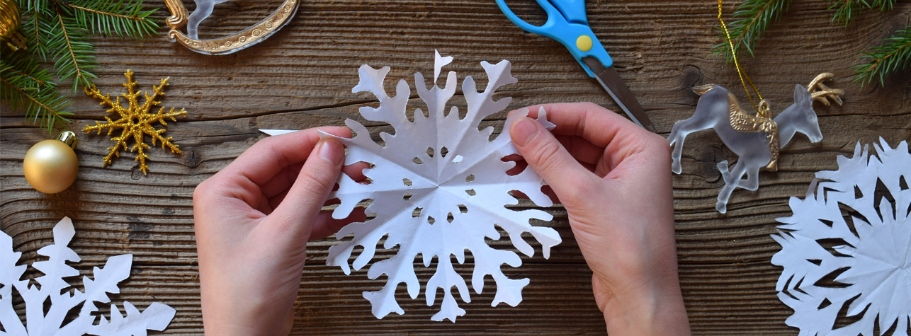 Cut out snowflake