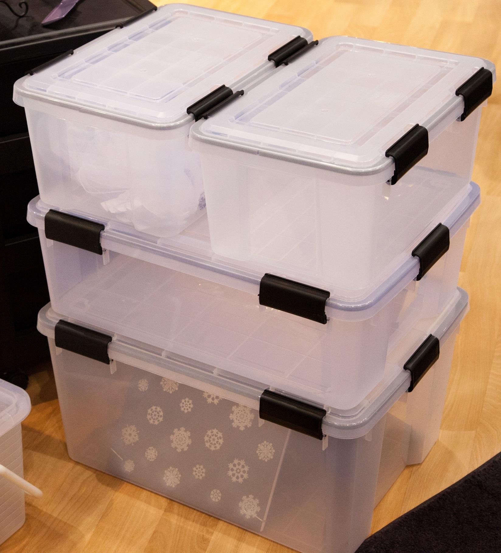 44 Ltr Large Iris Airtight Clear Plastic Storage Box