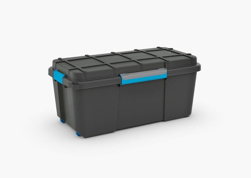 Scuba Box Large Black Water Resistant Storage Trunk