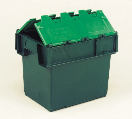 25 Ltr Stack/Nest Attached Lid Container/Storage Box