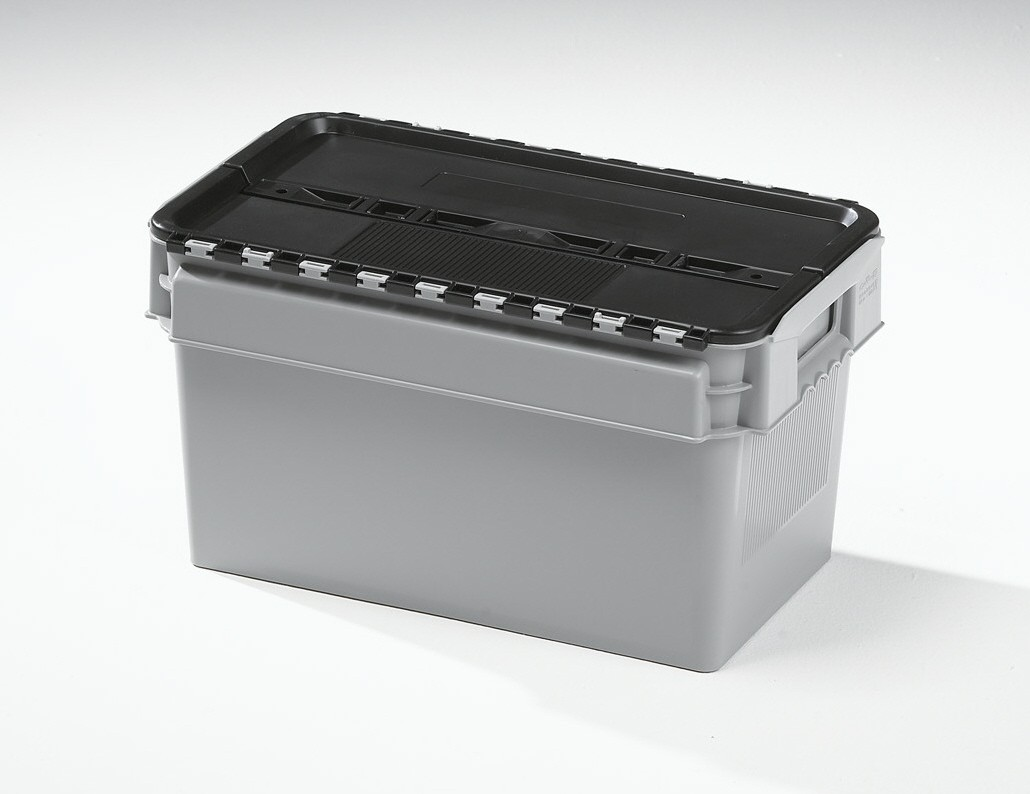 25 Ltr Curtec Stack/Nest Attached Lid Container