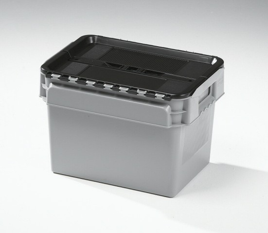 20 Ltr Curtec Stack/Nest Attached Lid Container