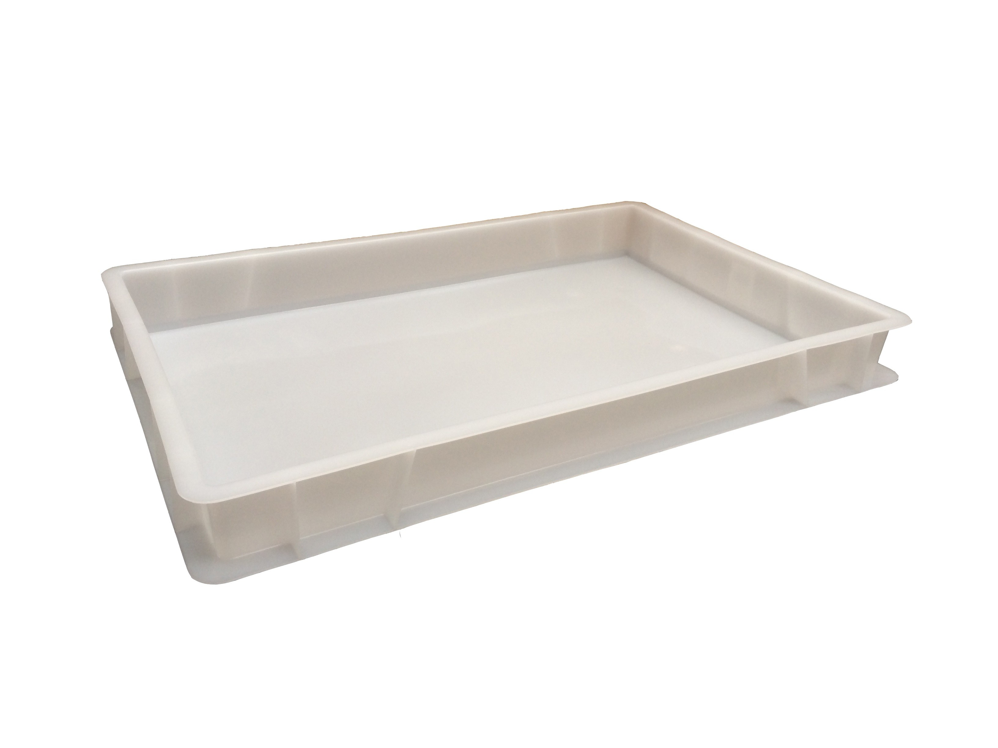 12 Litre Food Grade Plastic Euro Stacking Container / Commercial Stackable Pizza Confectionery Dough Tray