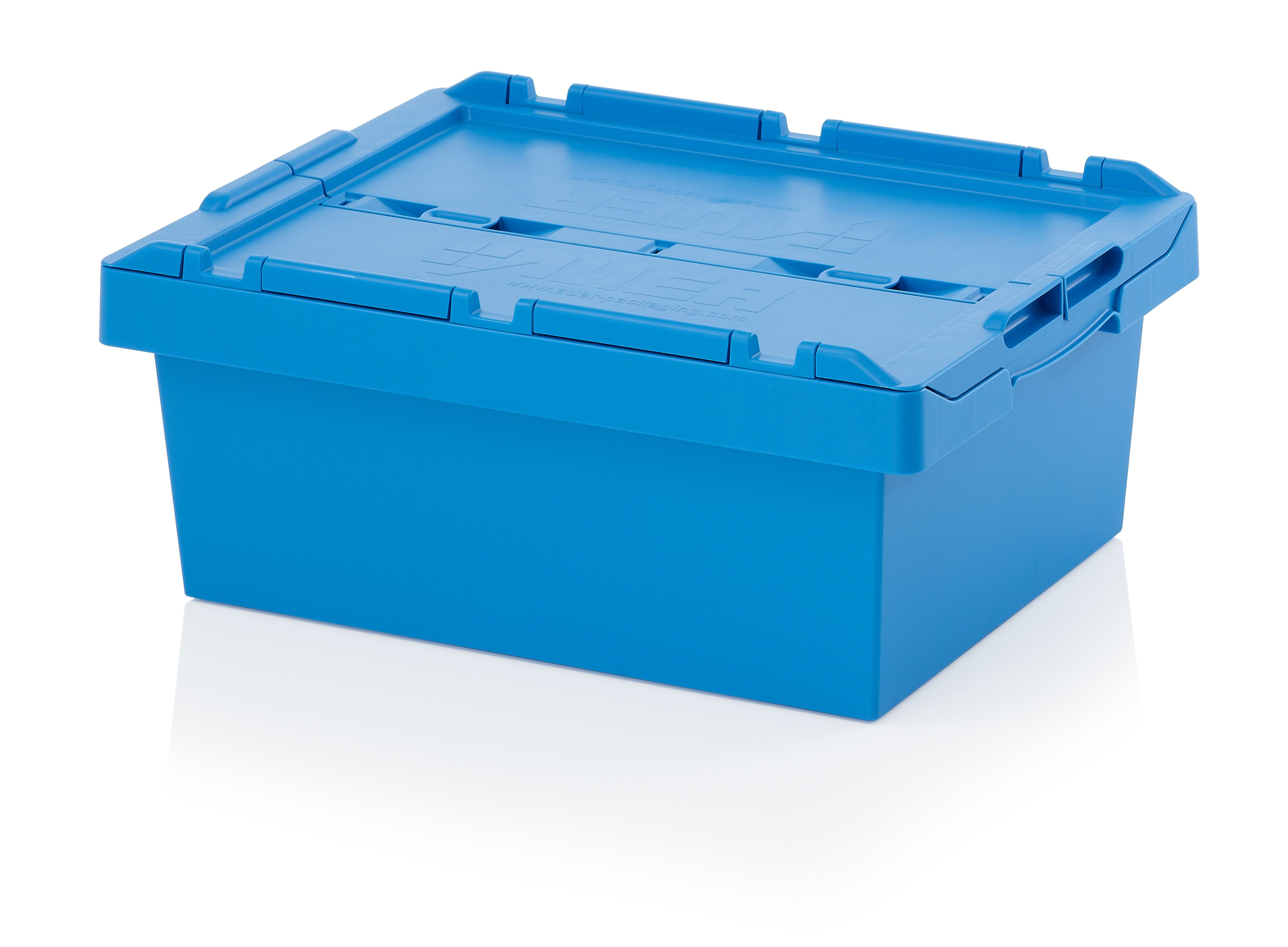 35 Ltr Stack/Nest Attached Lid Container/Storage Box
