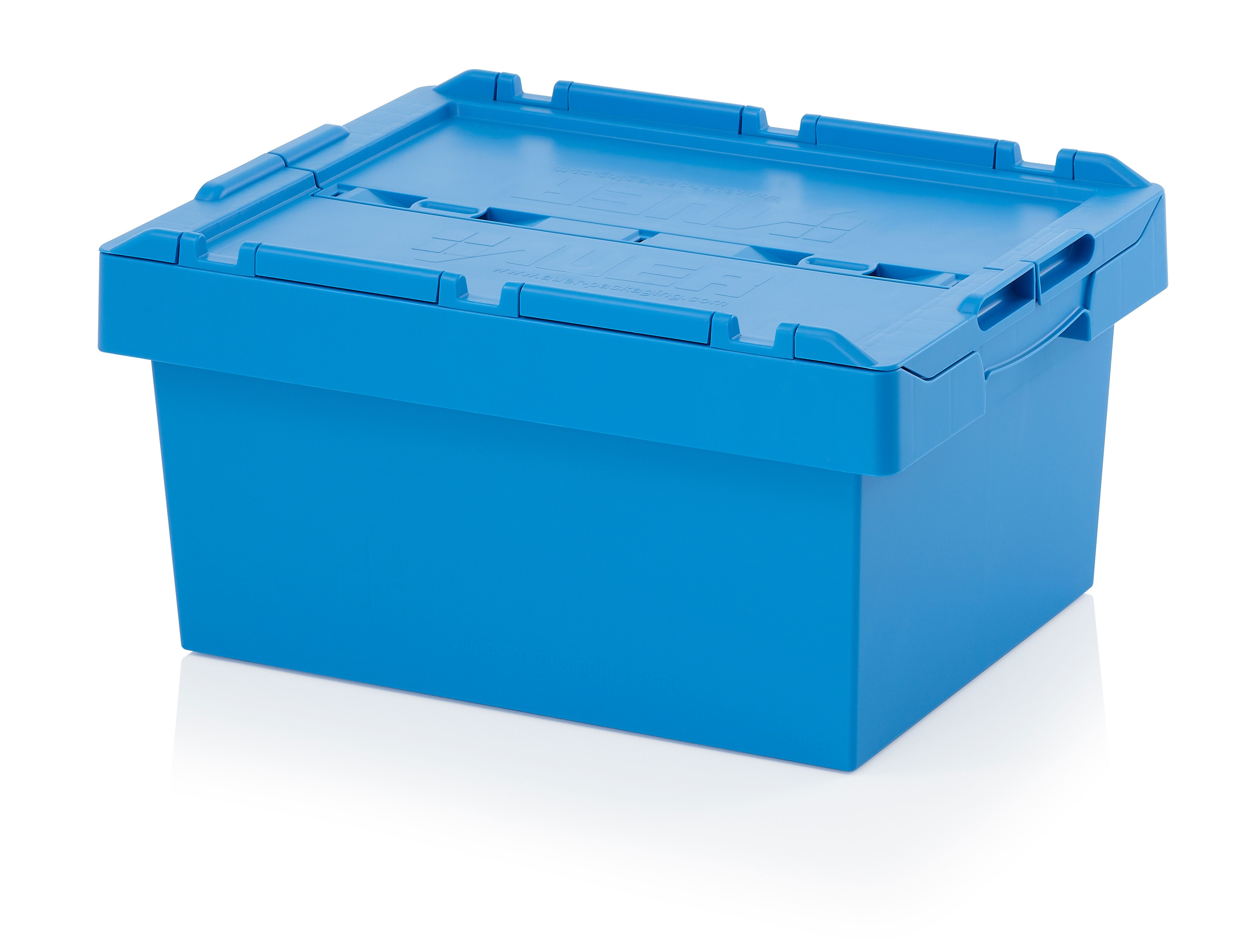 44 Ltr Stack/Nest Attached Lid Container/Storage Box