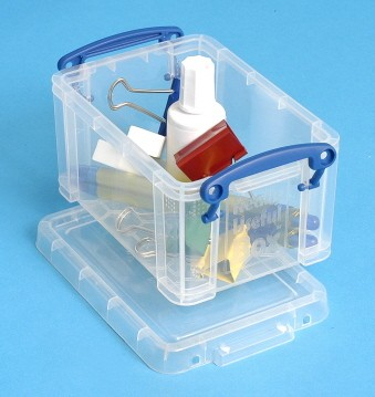 0.7 Ltr Clear Really Useful Plastic Storage Box