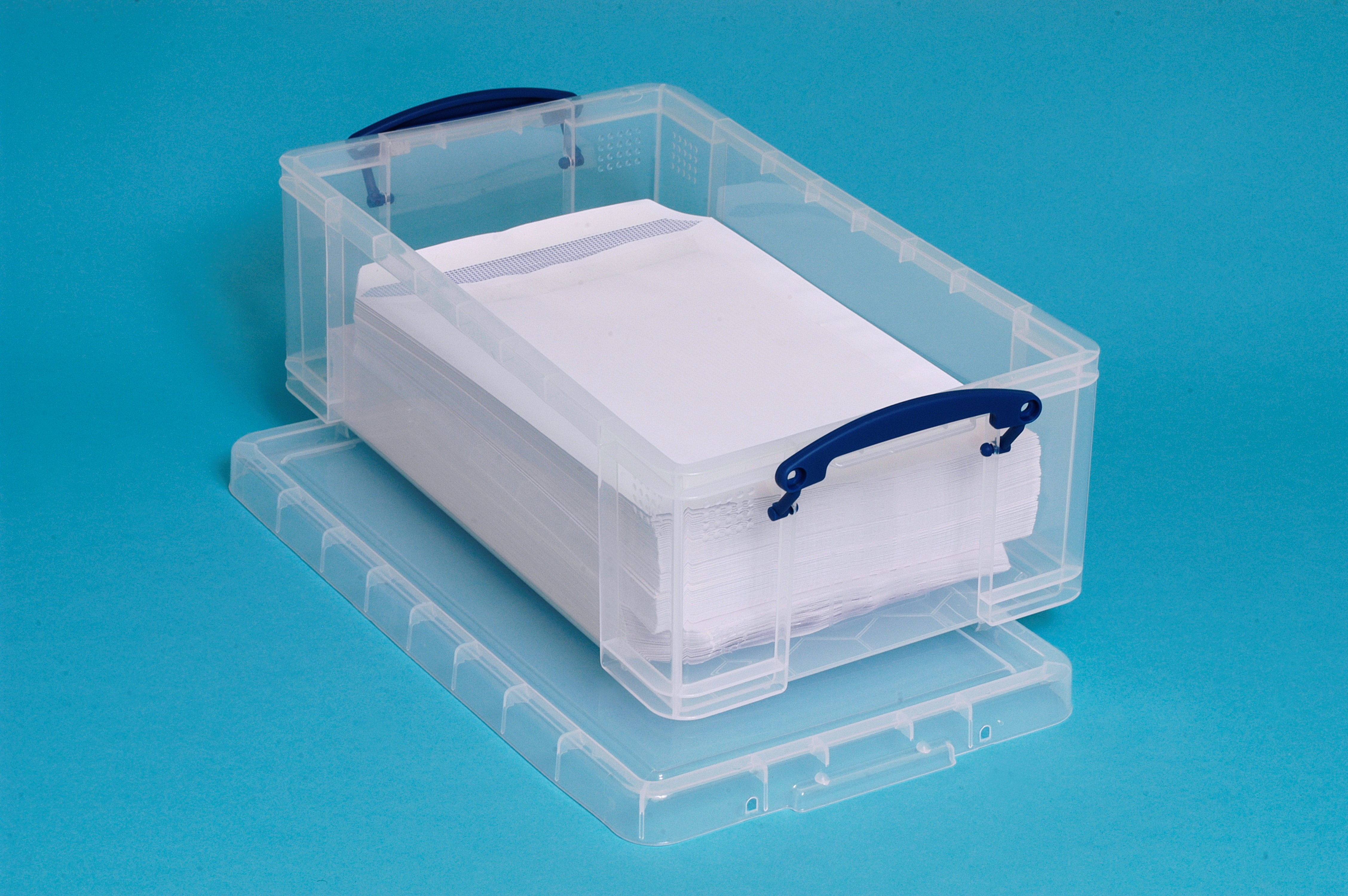 12 Ltr Clear Really Useful Plastic Storage Box