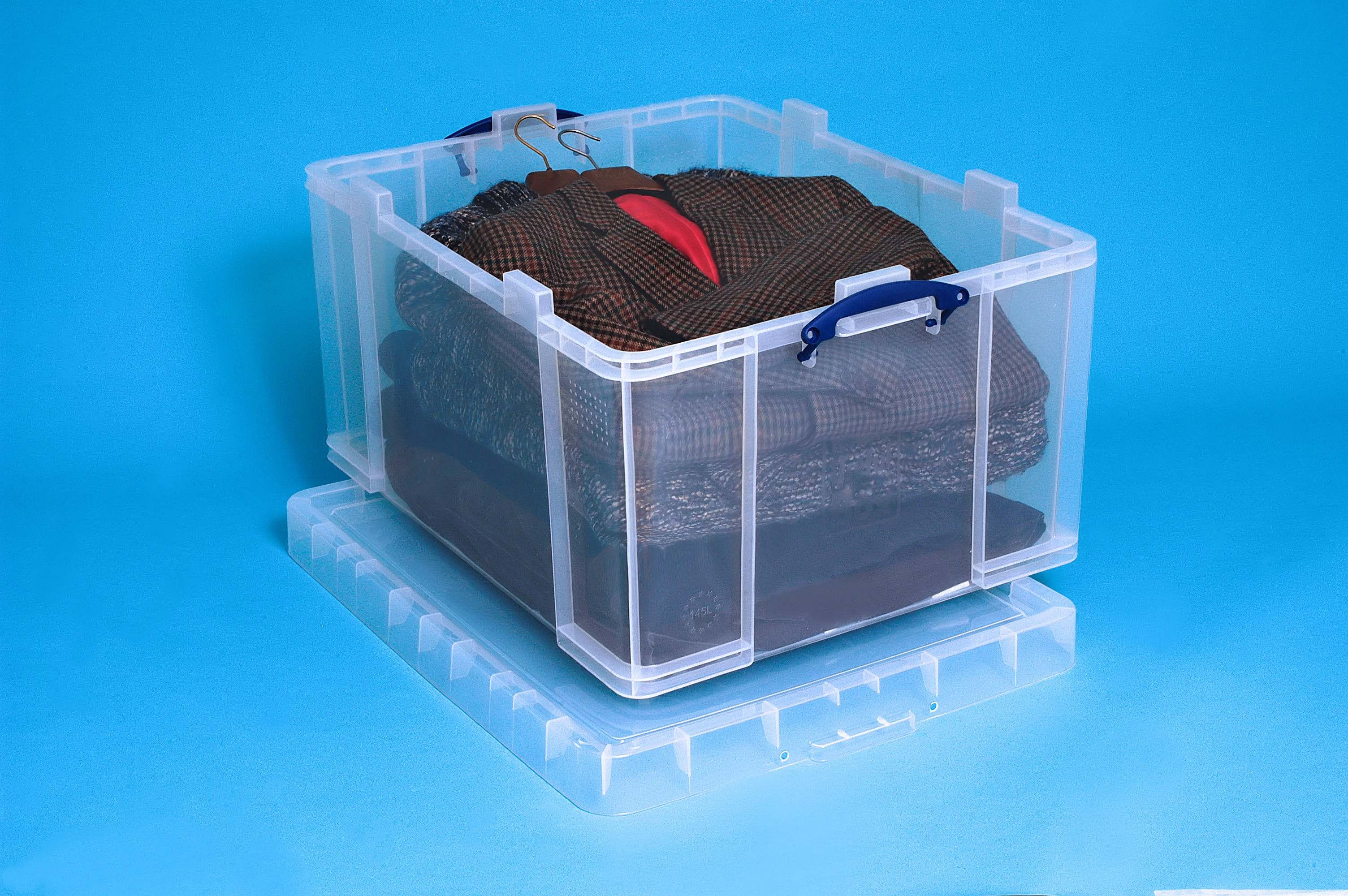 145 Ltr Clear Really Useful Plastic Storage Box