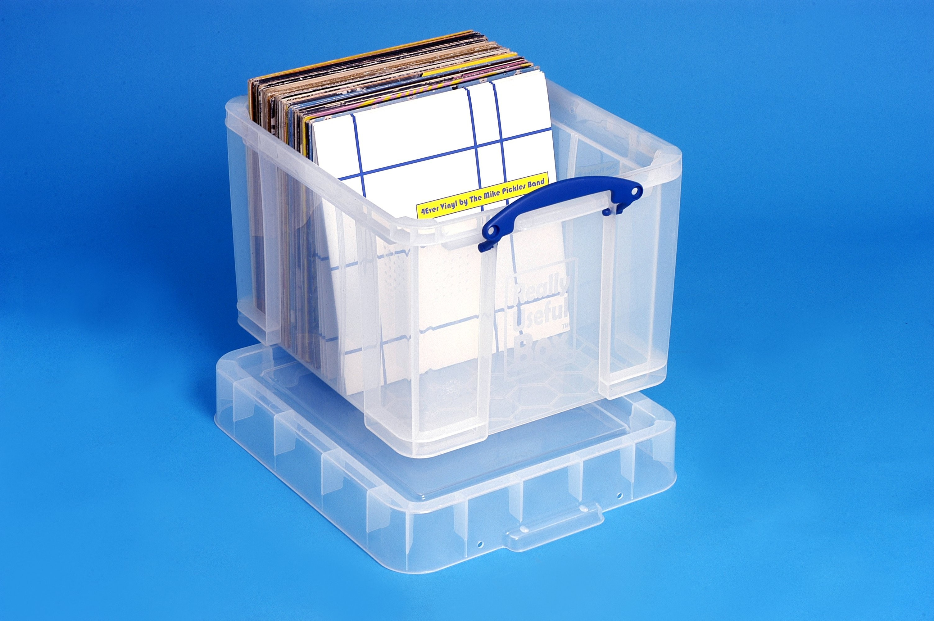 38 Ltr LP Transparent Really Useful Plastic Storage Box