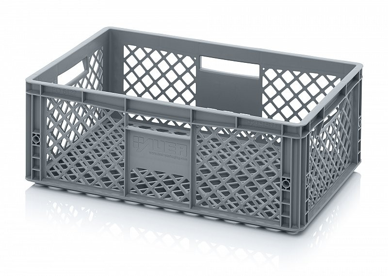 43 Litre Ventilated Perforated Euro Plastic Stacking Container / Stackable Storage Box